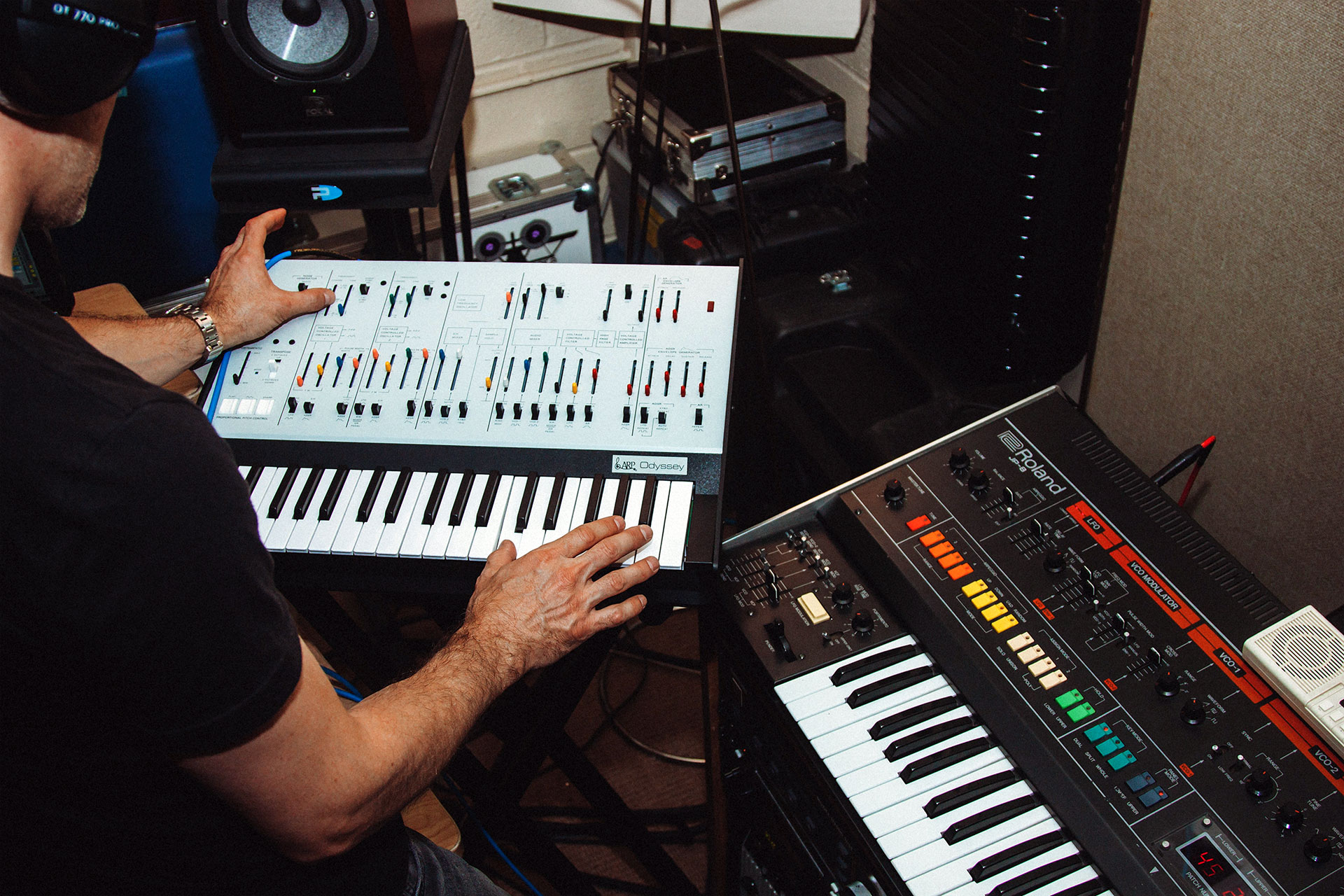 Stephen Becker playing the Odyssey Synthesizer