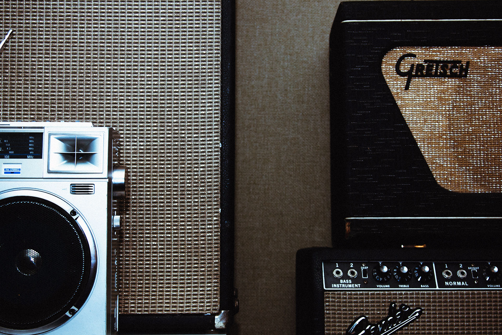Fender Bassman Amp and Boombox