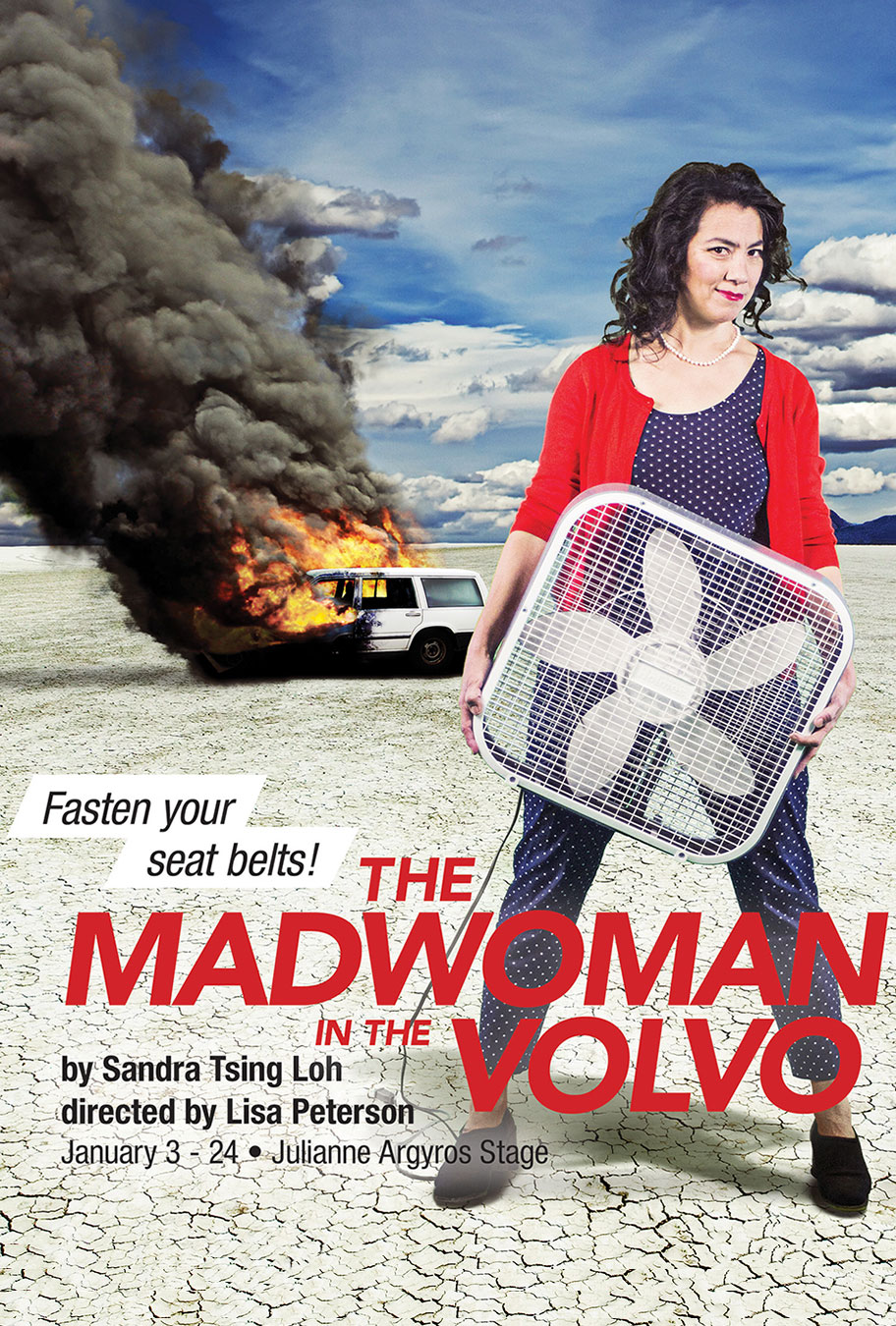 The Madwoman in the Volvo Poster